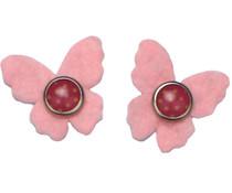Drukkerapplicatie vilten vlindertjes, licht roze