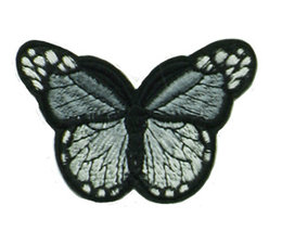 Drukkerapplicatie vlinder, grijs