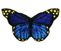 Drukkerapplicatie vlinder, blauw