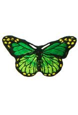 Drukkerapplicatie vlinder, groen