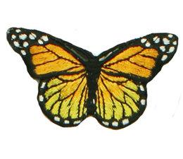 Drukkerapplicatie vlinder, geel