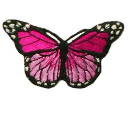 Drukkerapplicatie vlinder, roze