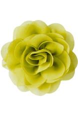 Drukkerapplicatie Voile roos, geel-groen