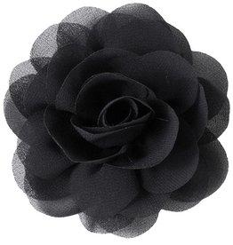 Drukkerapplicatie Voile roos, zwart