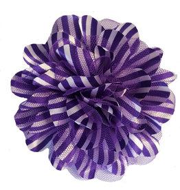 Drukkerapplicatie Gestreepte bloem, paars-wit