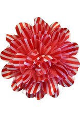 Drukkerapplicatie Gestreepte bloem, rood-roze