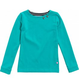 Shirt 'Basic' met lange mouw Turquoise