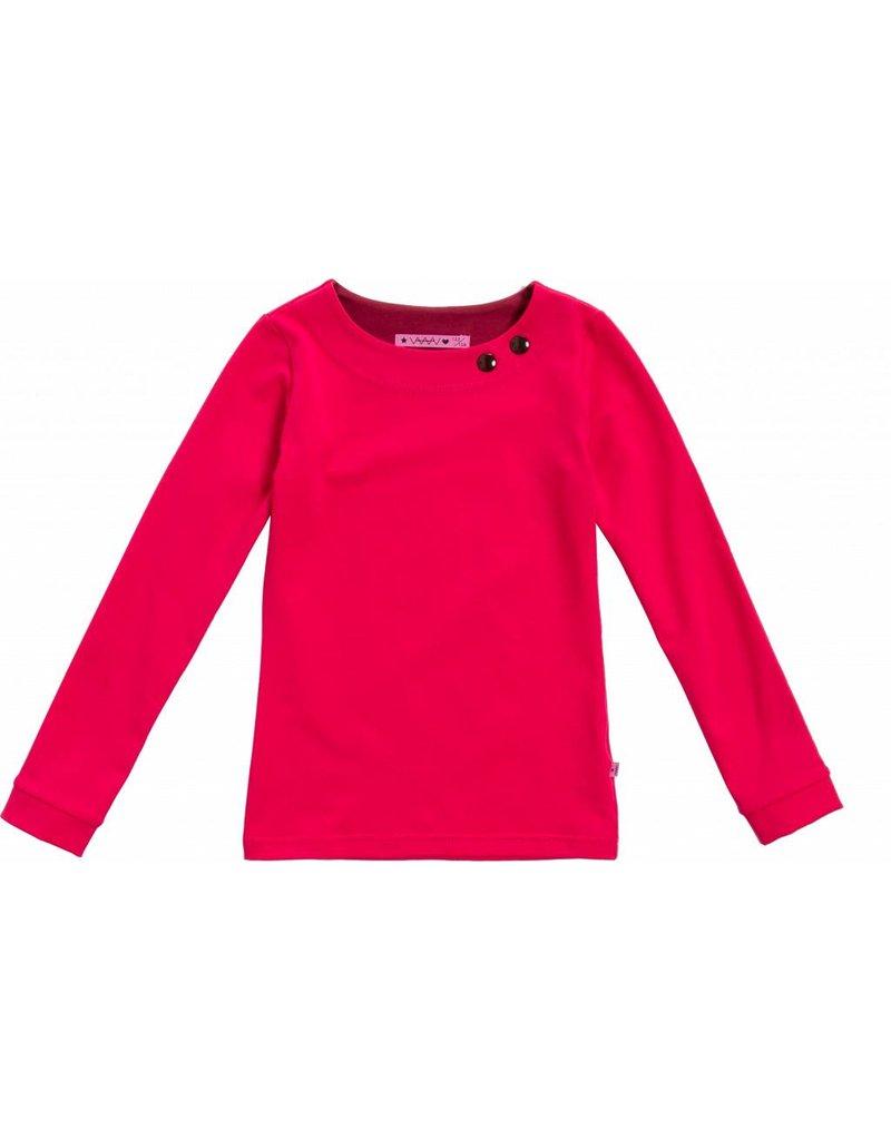 Shirt 'Basic' met lange mouw Koraal