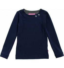 Shirt 'Basic' met lange mouw Navy
