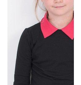 Shirt 'Basic' met lange mouw Zwart