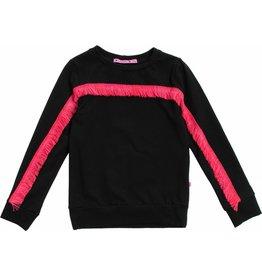 Sweater met franje Zwart, laatste maat 110/116