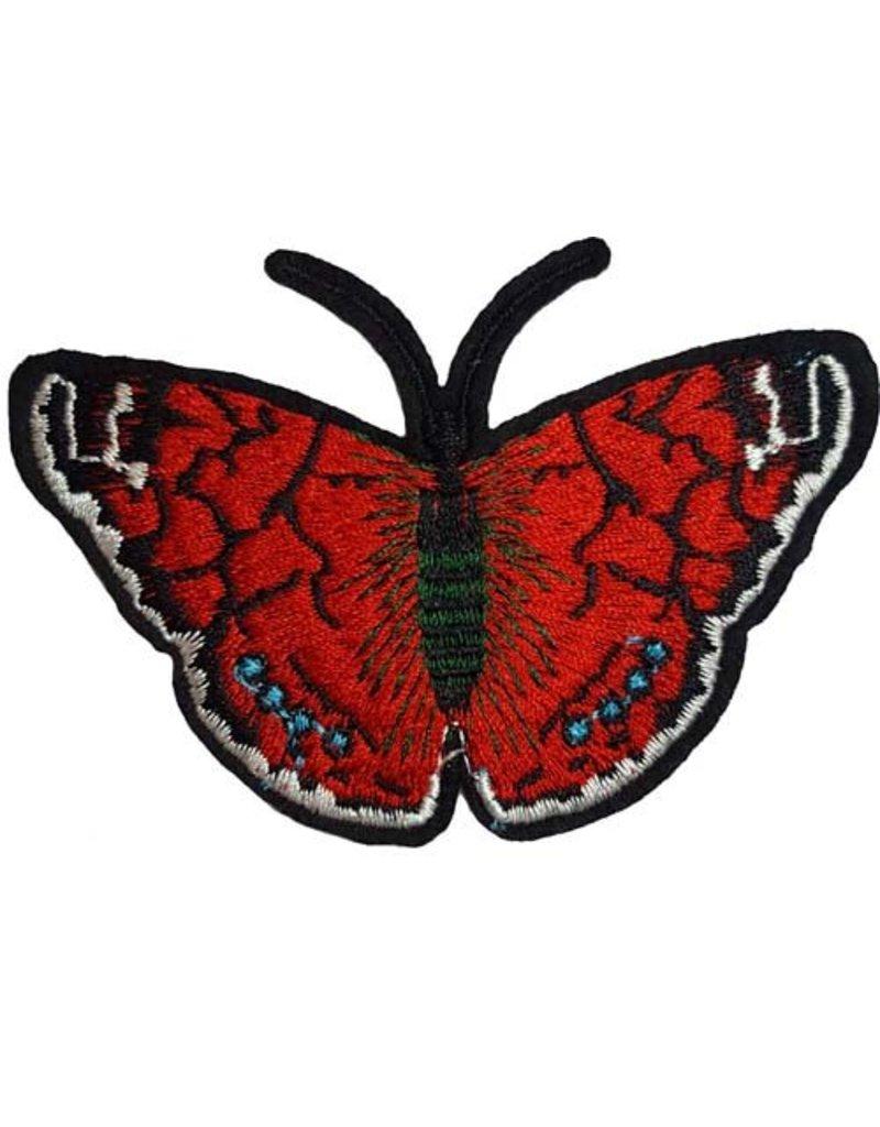 Patch Vlinder Rood