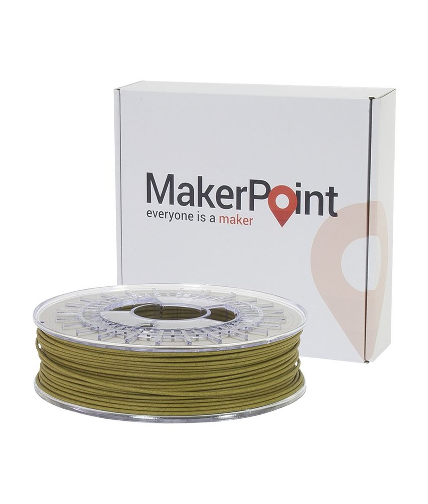 MakerPoint PLA Wood 750gr Green Wood