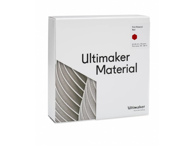 Ultimaker PLA 750gr (NFC) 2.85mm Red