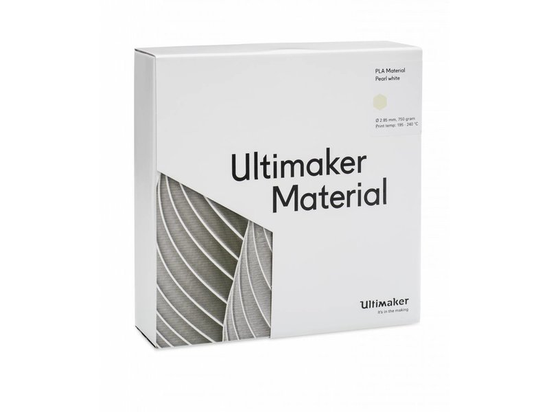 Ultimaker PLA 750gr (NFC) 2.85mm Pearl-White