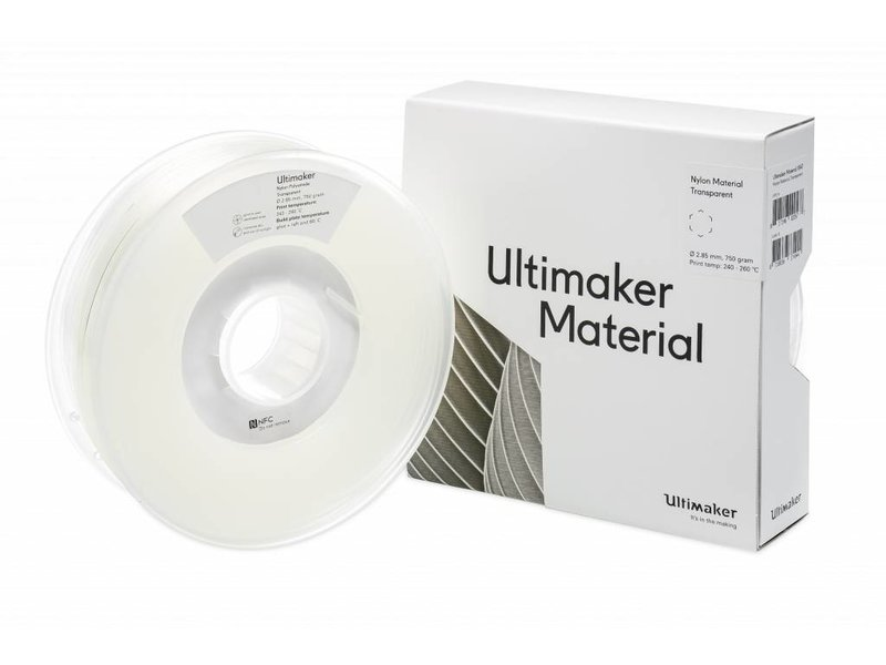 Ultimaker Nylon 750gr (NFC) 2.85mm Transparent