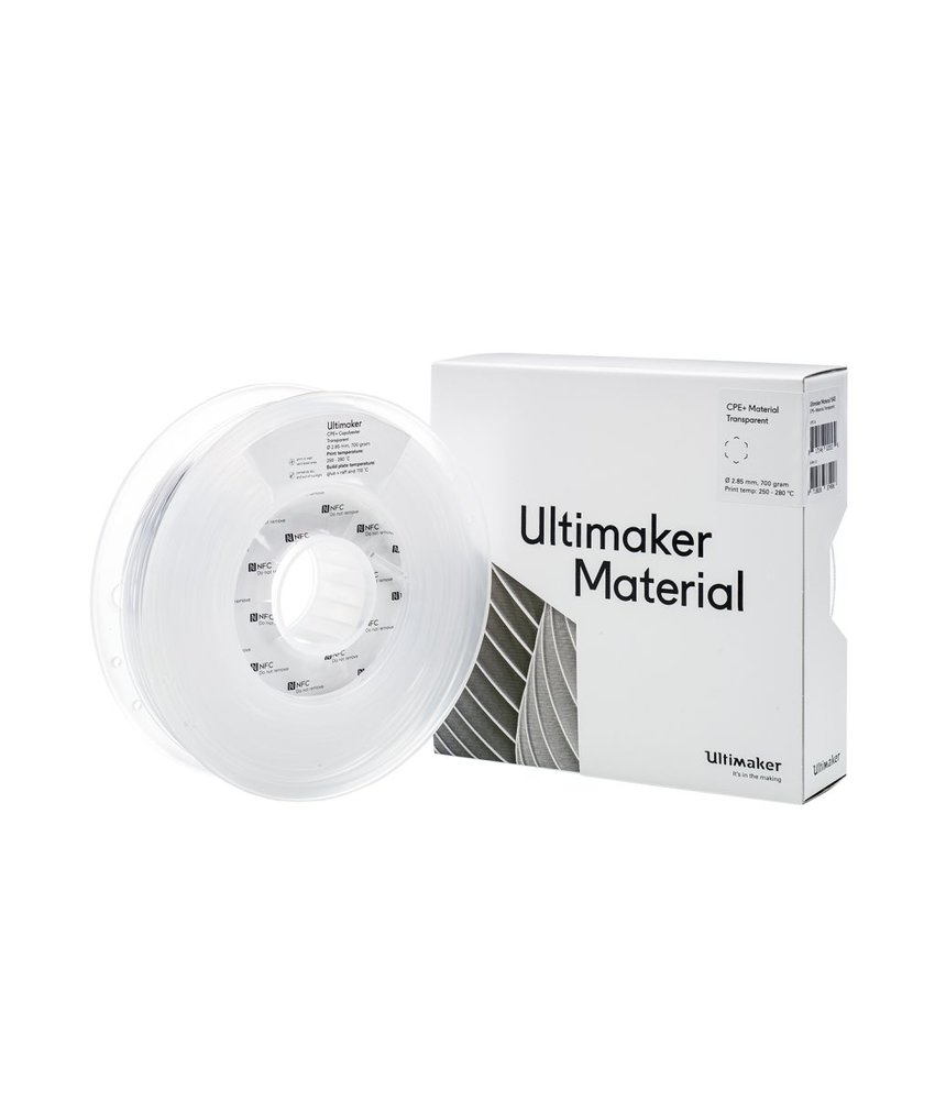 Ultimaker CPE+ 700gr (NFC) 2.85mm Transparent