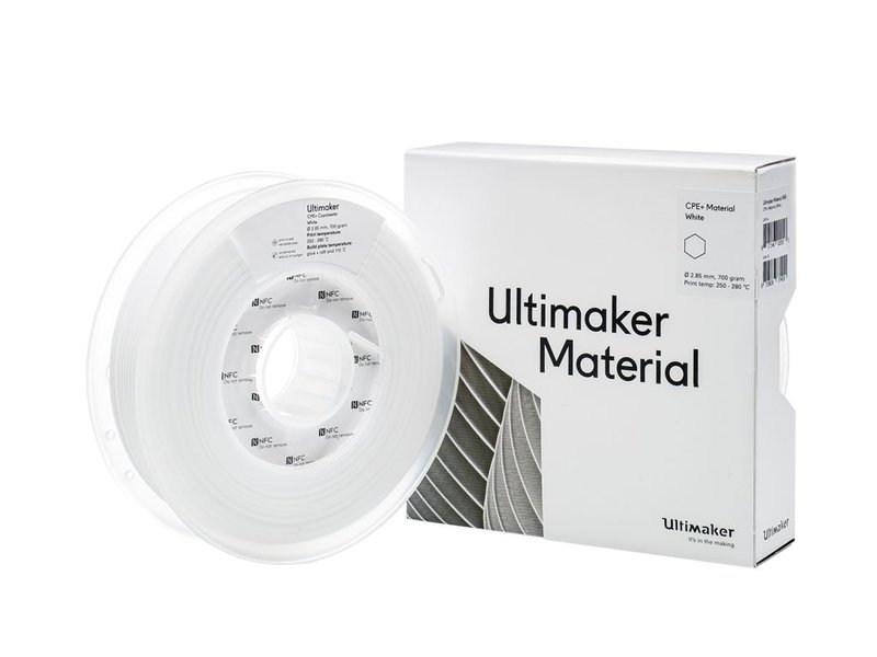 Ultimaker CPE+ 700gr (NFC) 2.85mm White