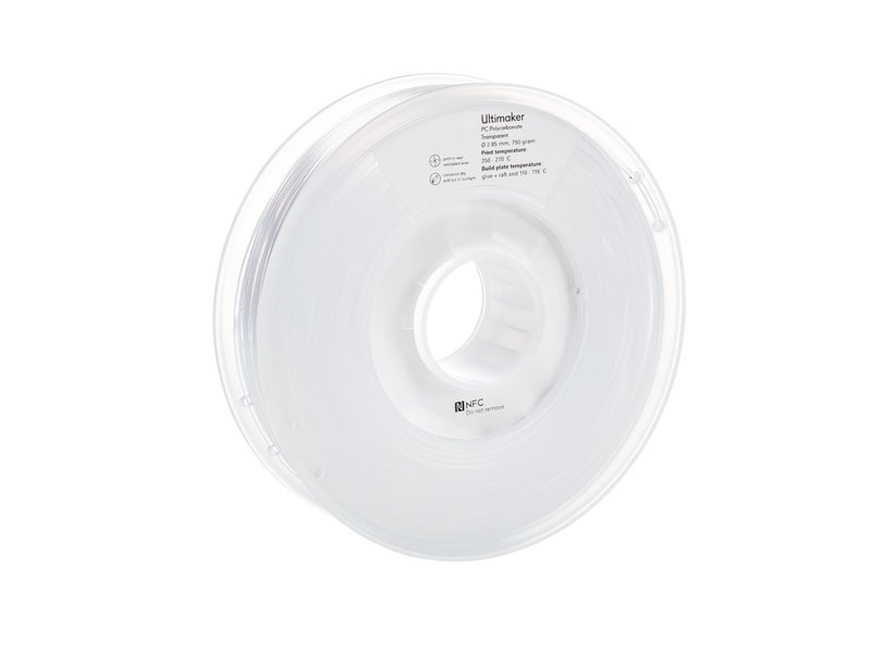 Ultimaker PC 750gr (NFC) 2.85mm Transparent