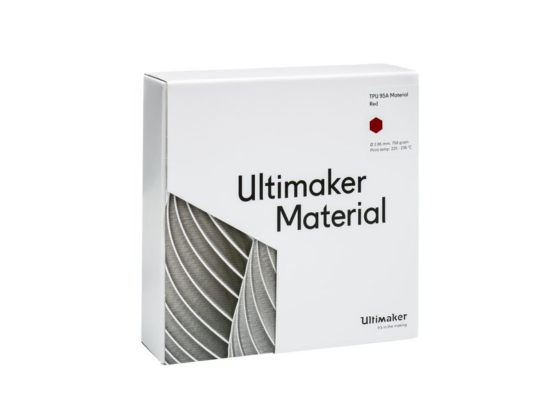 Ultimaker TPU 95A 750gr (NFC) 2.85mm Red