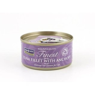 Fish4Cats Finest F4Cats Tuna Fillet Anchovy 70g