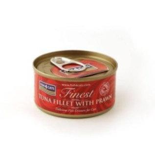 Fish4Cats Finest F4Cats Tuna Fillet Prawn 70g