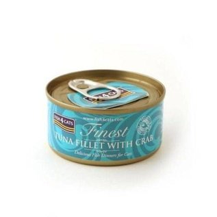 Fish4Cats Finest F4Cats Tuna Fillet Crab 70g