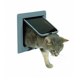 Trixie 4 standen kattenluik grijs