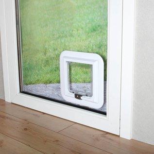 Trixie Kattenluik 4 standen -voor glas- XL