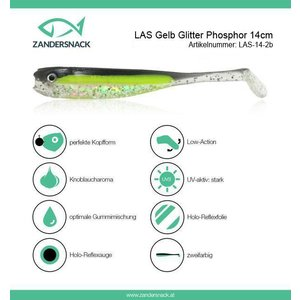 ZANDERSNACK Zandersnack 14cm Gelb Glitter Phosphor