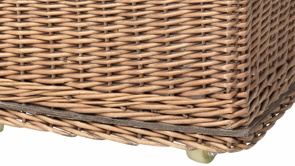 Broste Copenhagen opbergmand riet met wielen - 42 cm