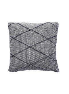Hubsch kussen, katoen, grijs patroon. Hubsch 44068814