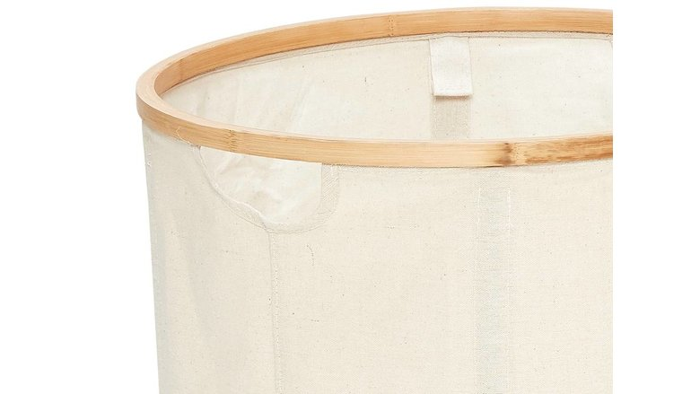 Hubsch wasmand, bamboe/textiel, rond - set van 2