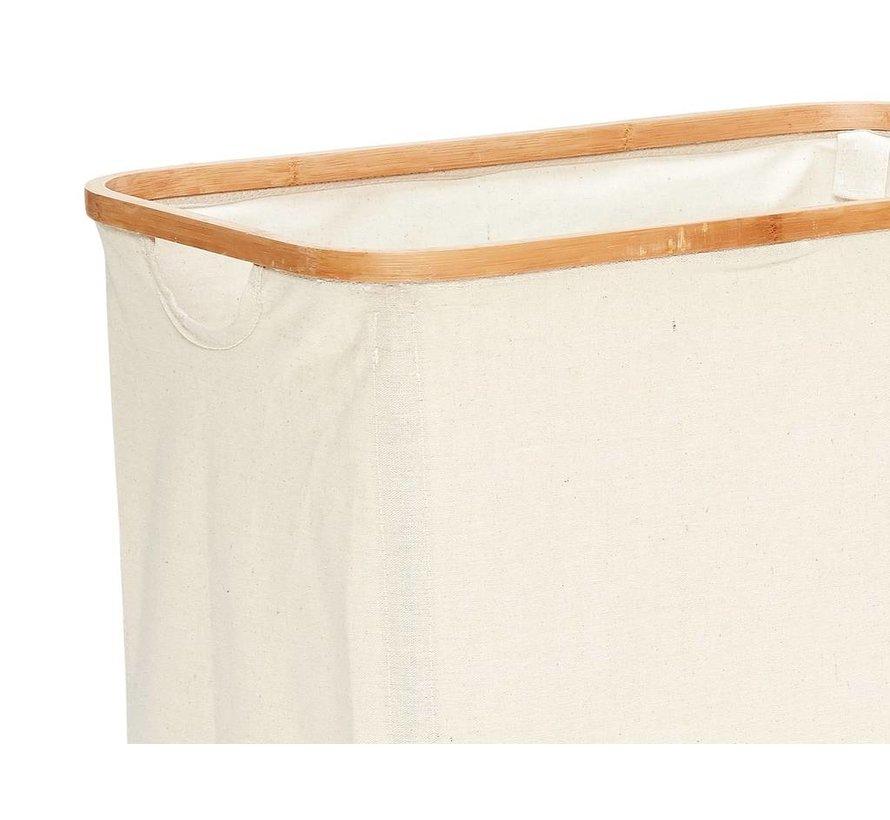 Wasmand - bamboe, stof - 360304 - set van 2
