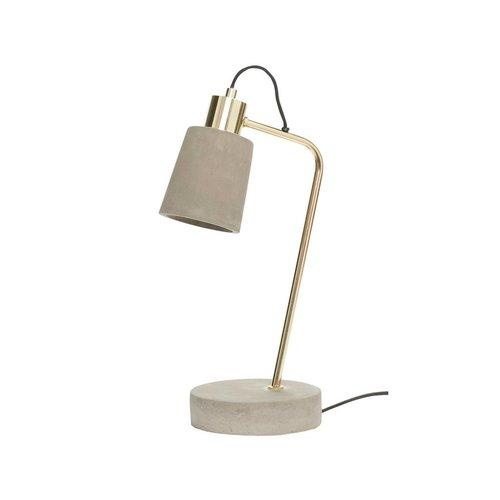 Hubsch Tafellamp beton/messing - grijs, goud - 45 cm