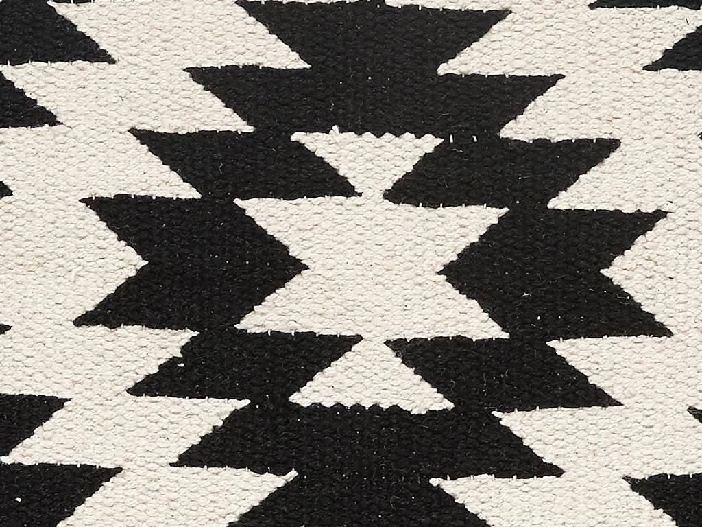 Hübsch kussen katoen zwart wit winkel voor thuis