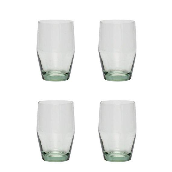 Hubsch waterglas 'Green' - 4st..  transparant