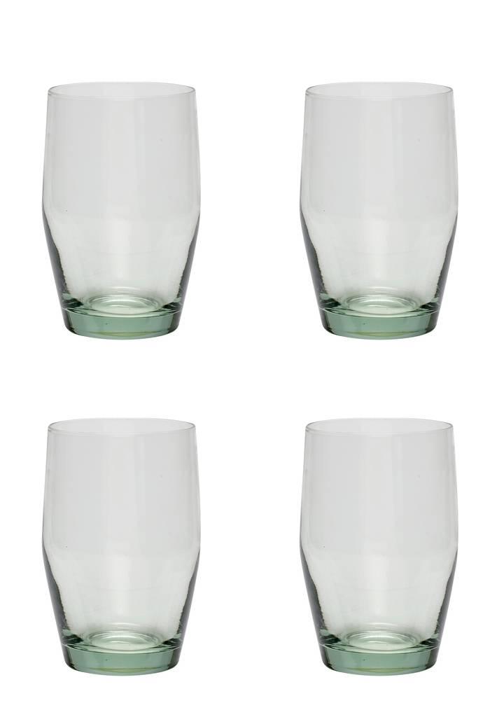 Hubsch waterglas 'Green' - 4st.