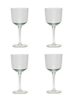 Hubsch wijnglazen witte wijn - helder glas - 4st.