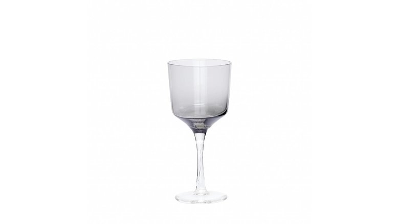 Hubsch wijnglazen witte wijn - grijs glas - 4st.