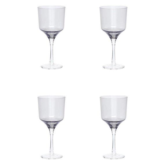 Hubsch wijnglazen rode wijn - grijs glas - 4st..  transparant