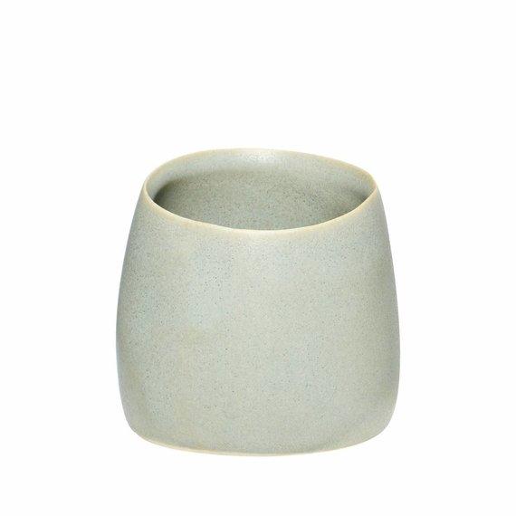 Hubsch beker mat grijs keramiek - ø9 x h8 cm.  grijs
