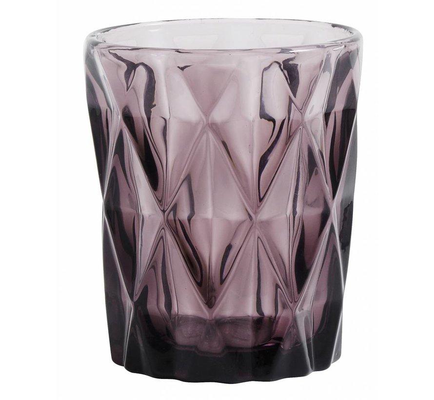 drinkglas Diamond paars glas - 0,25 L