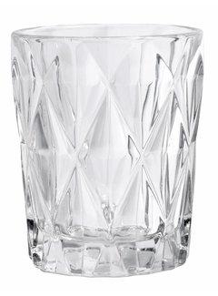 Nordal drinkglas Diamond helder glas - 0,25 L