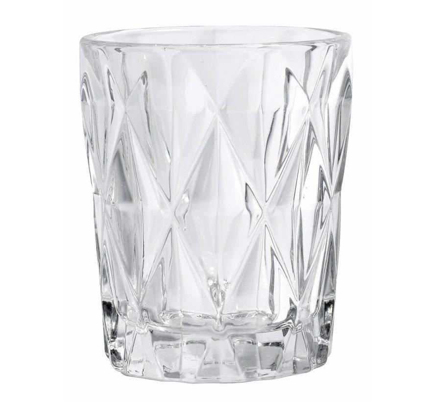 drinkglas Diamond helder glas - 0,25 L
