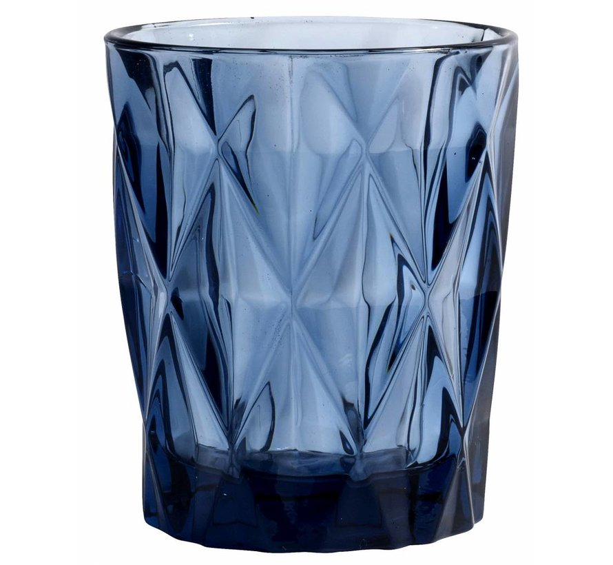 drinkglas Diamond blauw glas - 0,25 L