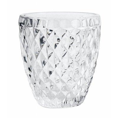 Nordal drinkglas Diamond helder glas - h 10cm. Nordal 53629790