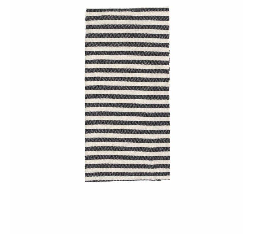 keukendoek Stripe wit/zwart - 2st.