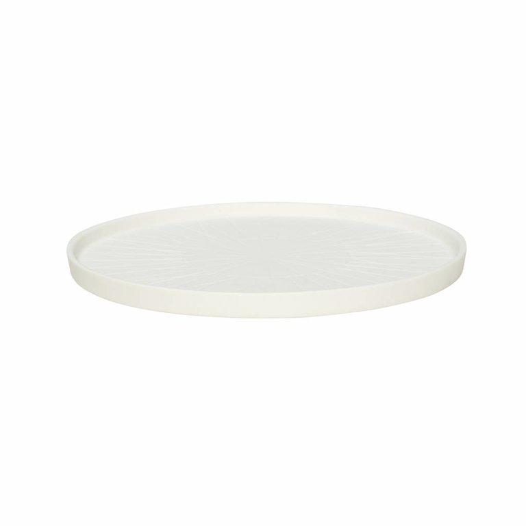 Een witte Hubsch bord van porselein. hubsch 640213