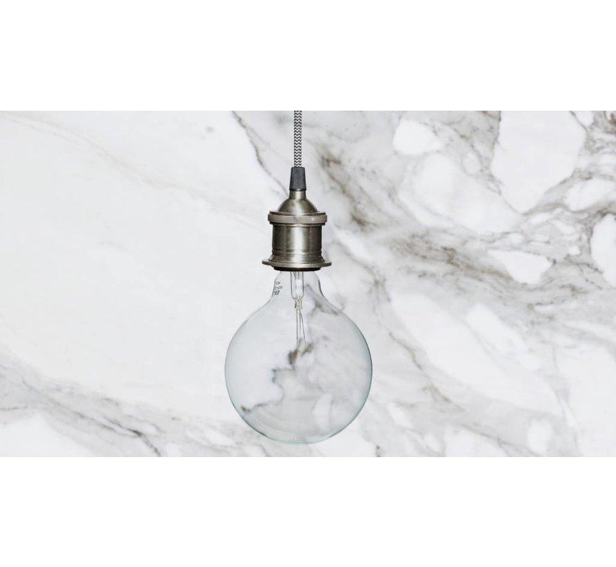 fitting/hanglamp zilver metaal